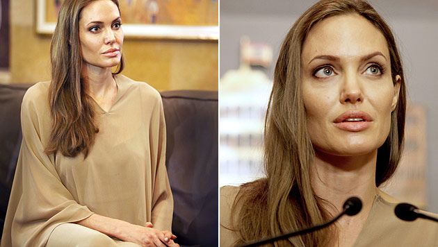 Freunde in Sorge um abgemagerte Angelina Jolie (Bild: AP)