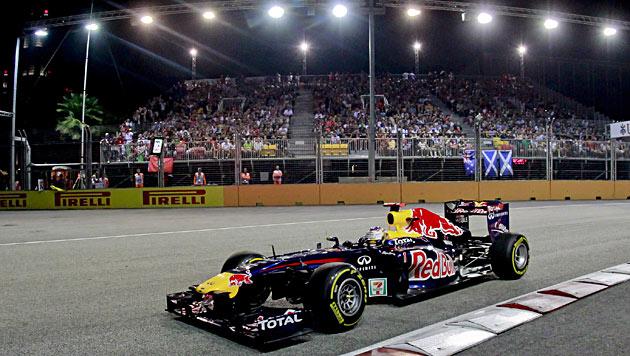 Mit Nacht-Spektakel beginnt finale Phase der Formel-1-WM (Bild: EPA)