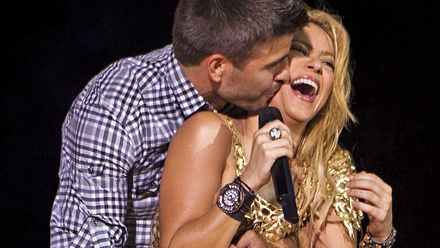 Shakira und Piqué erwarten ihr erstes Kind (Bild: dapd)