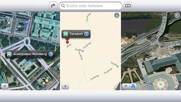Apple bittet um Geduld mit neuem Kartendienst (Bild: apple.com, krone.at-Grafik)