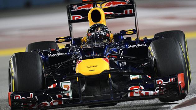 Vettel gewinnt vor Button und WM-Leader Alonso (Bild: EPA)