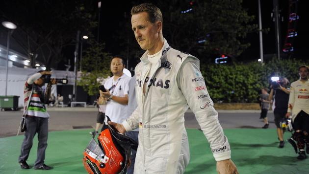 Strafe schwächt Schumacher im Vertragspoker (Bild: EPA)