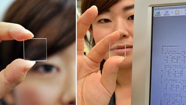 Dieses kleine Stück Glas kann Daten ewig speichern (Bild: AFP)