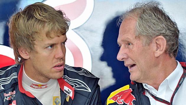 "Marko: ""Vettel denkt noch schneller, als er fährt"" (Bild: EPA)"