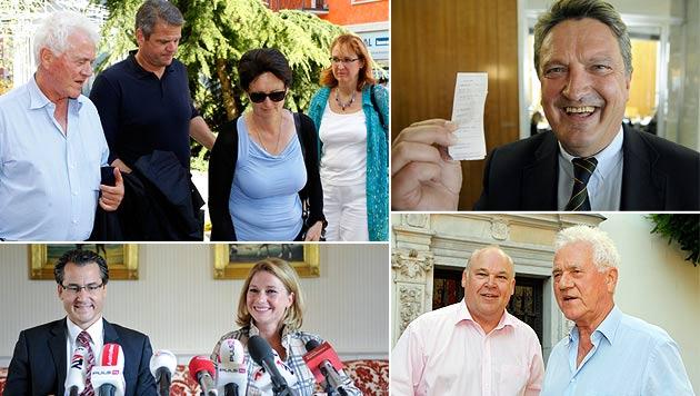 Team Stronach: Von Minister-Tochter bis SPÖ-Rohrspatz (Bild: APA/GERT EGGENBERGER/ROLAND SCHLAGER/HERBERT NEUBAUER)