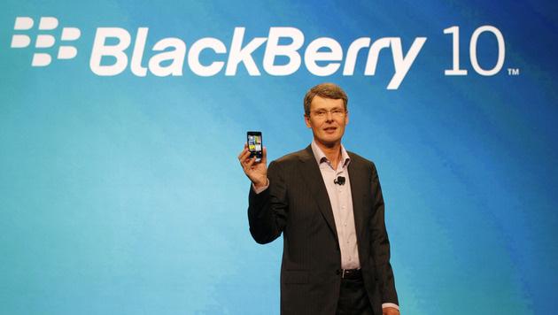 Blackberry-Firma RIM knapp über der Verlustzone (Bild: AP)