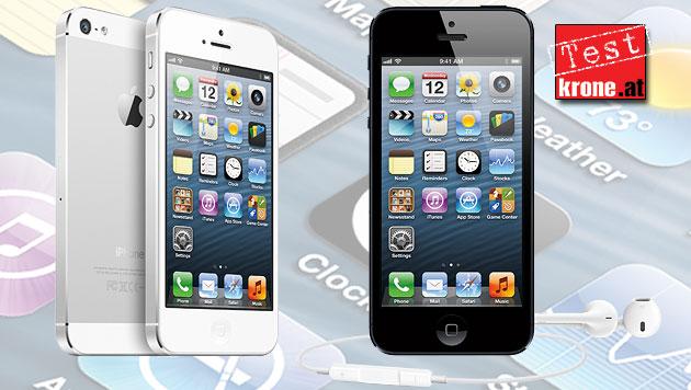 Die Stärken und Schwächen des neuen iPhone 5 (Bild: Apple, krone.at-Grafik)
