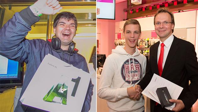 Verkauf von iPhone 5 in Österreich gestartet (Bild: A1, T-Mobile, krone.at-Grafik)