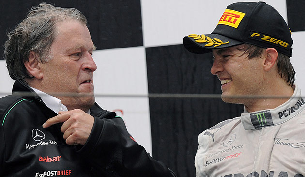 """Haug: Rosberg wird """"sicher nicht"""" Nr. 2 hinter Hamilton (Bild: EPA)"""