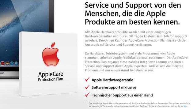 Apple bekommt wegen Garantie Ärger mit der EU (Bild: Screenshot Apple)