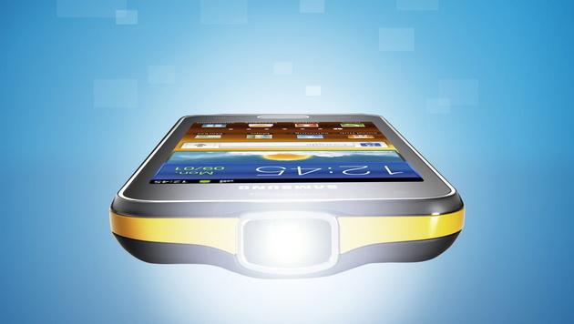 LED lässt Handy-Beamer doppelt so hell strahlen (Bild: Samsung)