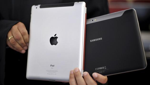Samsung vs. Apple: US-Richterin fordert Friedensschluss (Bild: Sascha Schuermann/dapd)