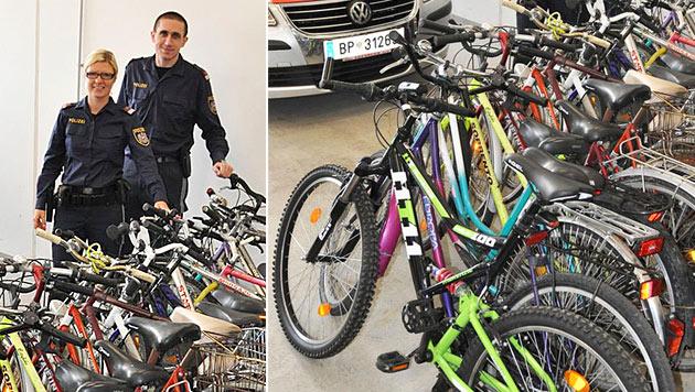 NÖ: Pensionist in Geldnot stahl 250 Fahrräder (Bild: APA/LPD NÖ)