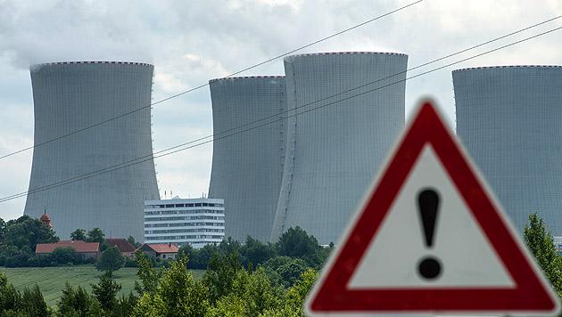 Das Atomkraftwerk Temelin (Bild: APA/dpa/Armin Weigel)
