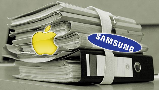 Strafe von Samsung an Apple fast halbiert (Bild: dapd, apple.com, samsung.com, krone.at-Grafik)