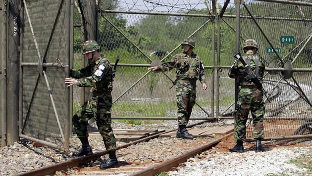 Nordkoreanischer Soldat setzte sich nach S�dkorea  ab (Bild: AFP (Symbolbild))