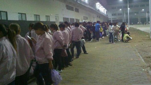 Angeblich kurzzeitig Streik bei Foxconn wegen iPhone 5 (Bild: China Labor Watch/Ye Fudao)