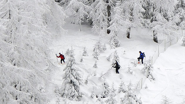 Snowboarder (49) bewusstlos aus Bachbett gerettet (Bild: APA/ROBERT PARIGGER (Symbolbild))
