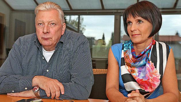 """Edi und Marion Finger: """"Ja, lassen uns scheiden!"""" (Bild: Peter Tomschi)"""
