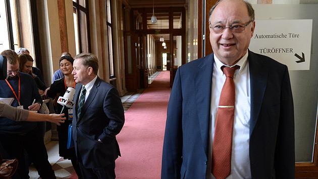 """""""Gespenstisch und bizarr"""": Ausschuss tagte 10 Minuten (Bild: APA/HELMUT FOHRINGER)"""