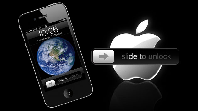 "Apple erhält noch offeneres ""Slide to unlock""-Patent (Bild: Apple, krone.at-Grafik)"
