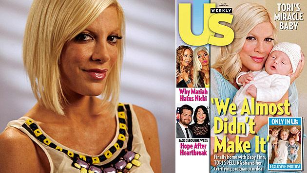 Tori Spelling wäre vor Baby-Geburt beinahe gestorben (Bild: dapd, US Weekly)