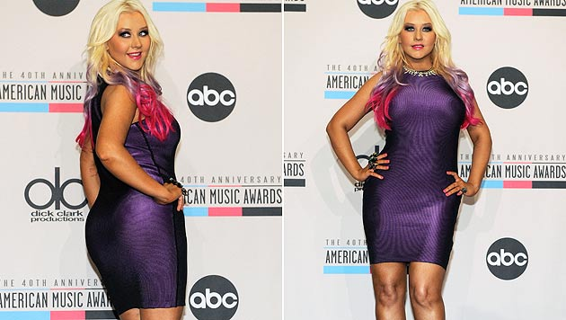 Christina Aguilera ist stolz auf ihren molligen Körper (Bild: dapd)