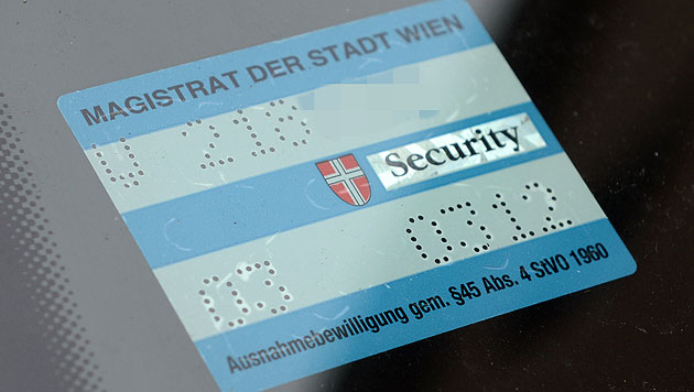 Wien: Döbling will jetzt doch kein Parkpickerl (Bild: APA/HELMUT FOHRINGER (Symbolbild))