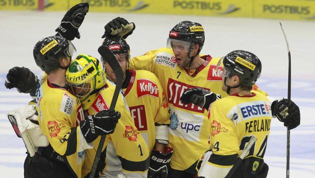 Capitals setzen mit 3:2 gegen VSV ihren Siegeszug fort (Bild: APA/GERT EGGENBERGER)