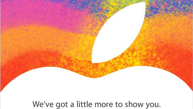 Mini-iPad: Apple lädt zu Präsentation am 23. Oktober (Bild: Apple)