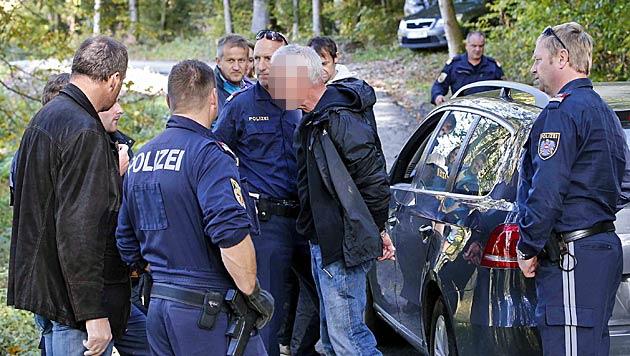 """Polizeihund """"Exo"""" stellt bewaffneten Bankräuber in Sbg (Bild: Markus Tschepp)"""