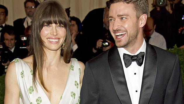 Biel und Timberlake gaben sich in Italien das Jawort (Bild: dapd)