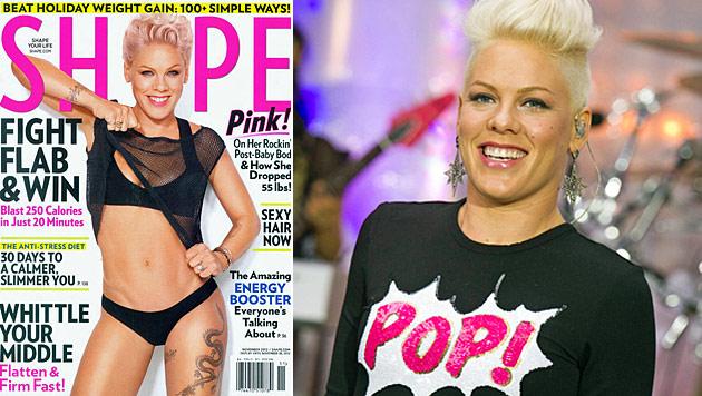 Hot Mama! Pink ist nach Baby wieder richtig fit (Bild: Shape, dapd)