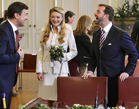 Prinz Guillaume von Luxemburg heiratete Gräfin (Bild: AFP)