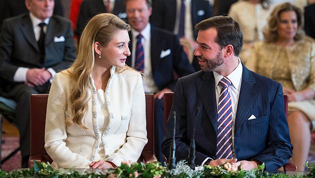 Prinz Guillaume von Luxemburg heiratete Gräfin (Bild: dapd)