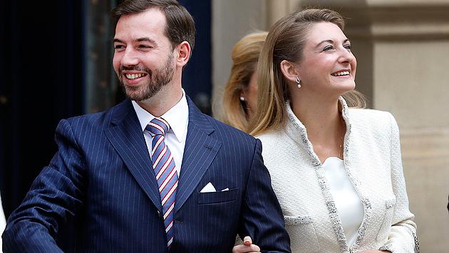 Prinz Guillaume von Luxemburg heiratete Gräfin (Bild: AP)