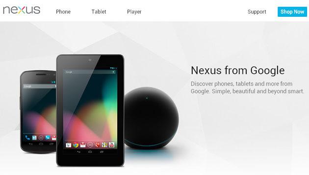 Weitere Infos zu Nexus-Neuheiten durchgesickert (Bild: Screenshot Google.com/nexus)