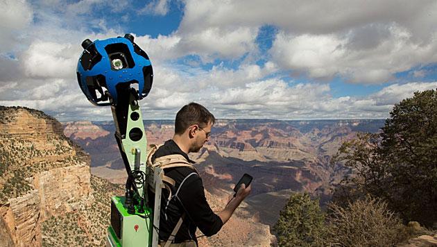 Street View: Google verleiht jetzt Kamerarucksäcke (Bild: Google)