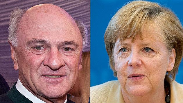 LH Pröll sprach bei Merkel wegen EU-Regionalpolitik vor (Bild: ORF,dapd/Michael Gottschalk)
