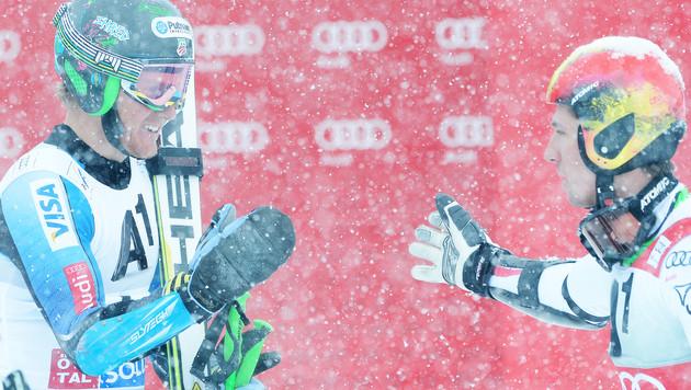Hirscher staunt über Ligetys fantastischen Sieg (Bild: APA/Robert Jäger)