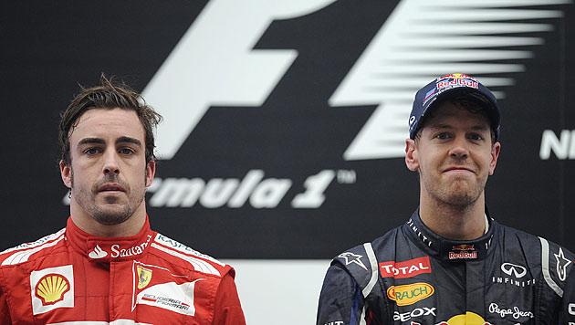 """Jetzt wird""""s deftig: Alonso erklärt Vettel den Krieg (Bild: EPA)"""