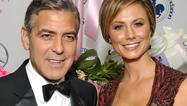 Stacy Keibler denkt nicht an Heirat mit George Clooney (Bild: dapd)