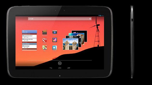 Google bringt iPad-Konkurrenten Nexus 10 zum Kampfpreis (Bild: Google)