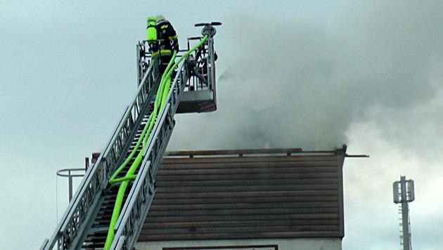 Hartnäckiger Brand in Silo von Kremser Tischlerei (Bild: Einsatzdoku.at)