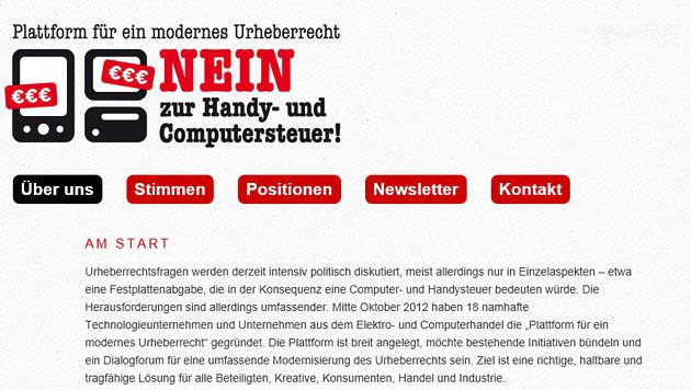 """IT-Unternehmen fordern """"modernes Urheberrecht"""" (Bild: modernes-urheberrecht.at)"""