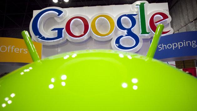 Google und Apple haben gleich viele Apps in den Stores (Bild: AP)