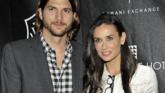 Ashton Kutcher reichte Scheidung von Demi Moore ein (Bild: dapd)