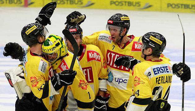 Capitals gewinnen den Schlager gegen Zagreb mit 2:1 (Bild: APA/Gert Eggenberger)
