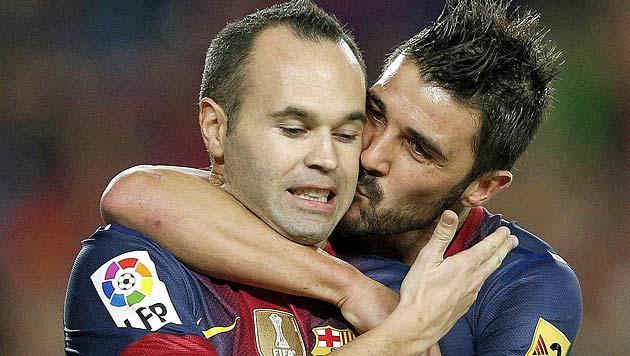 Iniesta will bis zum Karriereende in Barcelona bleiben (Bild: EPA)
