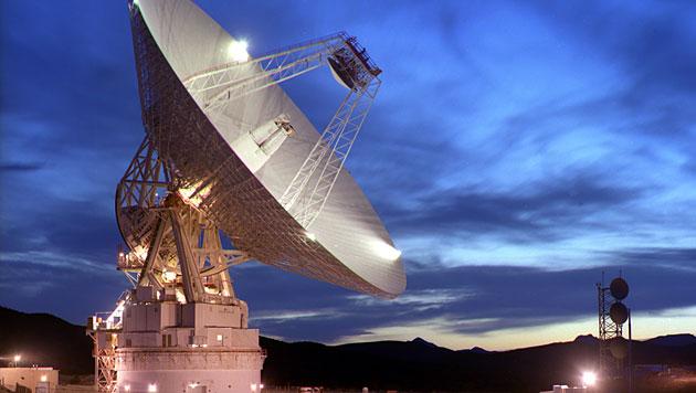 Das 70-Meter-Radarteleskop des Goldstone Deep Space Complex (Bild: NASA)